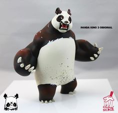 Angry Woebots x Silent Stage - 'Panda King 3' Original hand painted edition announced!!!
