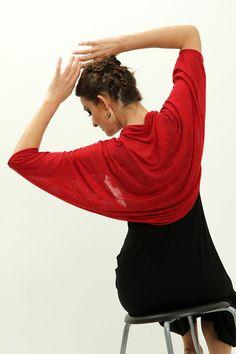 Red bolero jacket, Red shrug, jersey shrug, shrugs boleros, batwing shrug, bolero shrug women red shawl on Etsy, 196.43 ₪