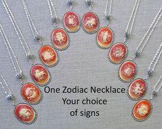 Astrology Necklace Zodiac Jewelry  Silver Plated Aquarius Pisces Aries Taurus Gemini Cancer Leo Virgo Libra Scorpio Sagittarius Capricorn