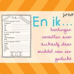 Juf-Stuff: En ik... gedicht voor de start van het schooljaar