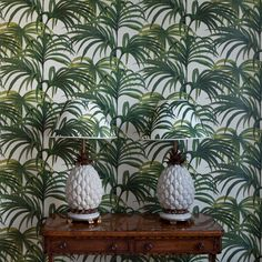 PALMERAL Wallpaper Off White / Green