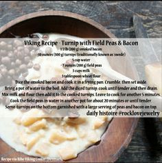 Viking Recipes, Medieval Recipes, Ancient Recipes, Diner Recipes, Bakery Recipes, Viking Food, Nordic Recipe, Norwegian Food, Scandinavian Food
