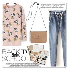 """back to school"" by mirisproleca ❤ liked on Polyvore featuring Garance Doré, women's clothing, women's fashion, women, female, woman, misses, juniors, BackToSchool and jeans"