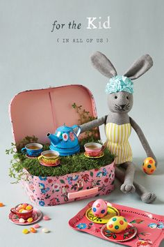 The best Easter baskets are a bit fantastical—imagine opening this miniature pink suitca...