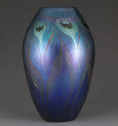 Vase, 1900, Favrile glass, H. 10 3/4 in. (27.3 cm ), Inscribed: (on underside) Louis C. Tiffany/ 07281, Gift of Louis Comfort Tiffany Foundation, 1951