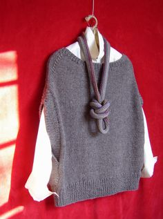 You knit the front and back alike for this versatile topper - ML164 Flatter Me Vest