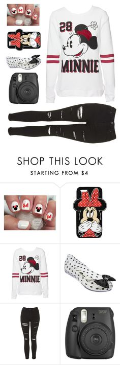 """""""Minnie Mouse Club House"""" by a-good-old-southern-belle ❤ liked on Polyvore featuring Forever 21, Disney, Melissa and Topshop"""