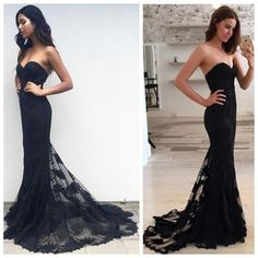 2017 Black Mermaid prom dress 2017 Lace prom dress sexy prom dress Long prom dress cheap prom dresses prom dress online dresses for prom Mermaid Prom Dresses Lace, Pretty Prom Dresses, Simple Prom Dress, Sweetheart Prom Dress, Cheap Prom Dresses, Beautiful Dresses, Bridesmaid Dresses, Dress Long, Mermaid Sweetheart