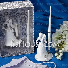 Guestbook - $11.89 - Bride and Groom Design Wedding Pen Set in White Resin (101020364) http://jjshouse.com/Bride-And-Groom-Design-Wedding-Pen-Set-In-White-Resin-101020364-g20364
