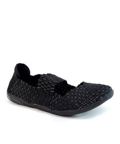 Loving this Black Woven Mary Jane Flat on #zulily! #zulilyfinds