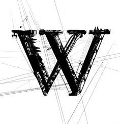 garamond powerline letter W