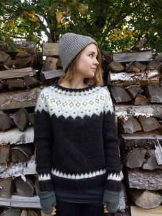 Reserved for Floriane Icelandic Sweater / Lopapeysa Hand Knit