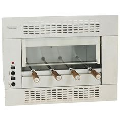 Churrasqueira Elétrica de Embutir 4 Espetos Sistema Rotativo