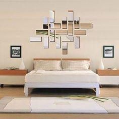 1000 id es sur art mural miroir sur pinterest for Miroir mural chambre