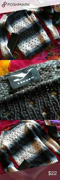 Y London sweater size M Black white and grey sweater. Perfect with leggings and boots. No damage Y London Sweaters