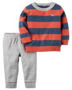 Baby Boy 2-Piece Little Sweater Set | Carter's OshKosh Canada