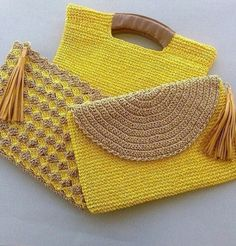 """New Cheap Bags. The location where building and construction meets style, beaded crochet is the act of using beads to decorate crocheted products. """"Crochet"""" is derived fro Crochet Clutch Bags, Crochet Handbags, Crochet Purses, Crochet Bags, Crochet Flowers, Crochet Shell Stitch, Crochet Stitches, Crochet Designs, Crochet Patterns"""
