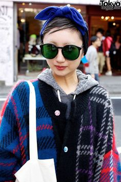 Oversized Plaid Coat, Honey's Dead Bag & Tokyo Bopper in Harajuku Girl With Sunglasses, Tom Ford Sunglasses, Kids Sunglasses, Sunglasses Outlet, Oakley Sunglasses, Chloe Fashion, High Fashion, Designer Handbags Uk, La Fashion District