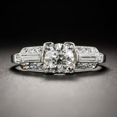 .70 Carat Diamond Art Deco Engagement Ring