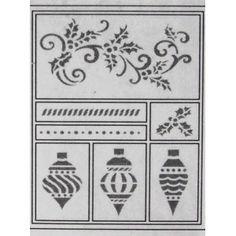 Šablona - Vánoční ozdoby a kudrlinky (D12)