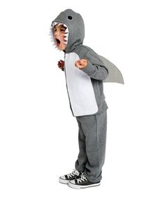 Homemade Halloween Costumes for Kids: DIY Shark costume (click through for how-to & more)