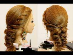 Hairstyles for Medium Hair Tutorial | Unique Hairdo | Easy step - by - step tutorial - YouTube