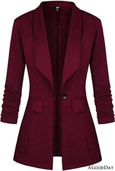 Office Look Women, Office Outfits Women, Blazer Jackets For Women, Blazers For Women, Women Blazer, Women's Jackets, Long Blazer, Work Casual, Jacket Style