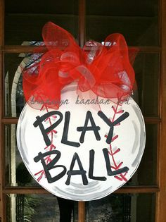 Play Ball Door Hanger  Bronwyn Hanahan Art by BronwynHanahanArt, $50.00