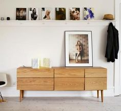 Reflect sideboard fra Muuto with a darker wood tone or bleached wood