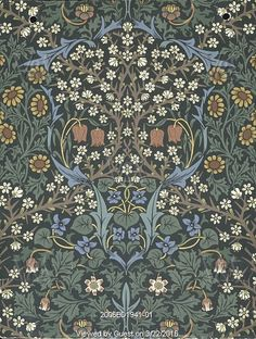 Blackthorn wallpaper, by William Morris. England, late 19th century