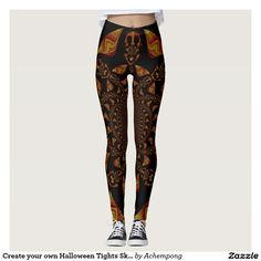 Achempong Zazzle Online Shopping Store #Create #your #own #Halloween Tights #Skeletal Stocking