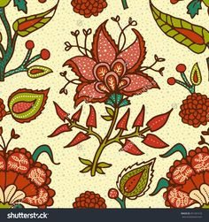 Indian National Paisley Ornament For Cotton, Linen Fabrics. Tribal Flowers Seamless Pattern. Bohemian Ornaments. Texture For Wrapping, Skins Smartphones, Textile Wallpapers, Surface Design Ilustración vectorial en stock 451441510 : Shutterstock