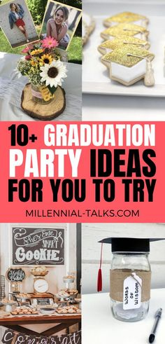 13 Graduation Party Ideas You Need To Try - Millennial Talks Graduation Party Desserts, Grad Parties, Guy Graduation Party Ideas, A Little Party, Graduation Pictures, Dessert Bars, Food To Make, Blogging, Decor Ideas