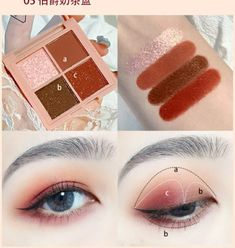 Eyeliner Designs, Eye Makeup Designs, Makeup Inspo, Makeup Tips, Beauty Makeup, Korean Eye Makeup, Easy Eye Makeup, Korean Makeup Tutorials, Ulzzang Makeup Tutorial