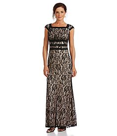 Sangria Floral Lace Gown #Dillards $89 http://www.dillards.com/product/Sangria-Floral-Lace-Gown_301_-1_301_504686820?df=04273013_zi_black_putty&categoryId=672399&scrollTop=5069