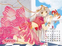 Chobits 2003 Calendar image by Clamp