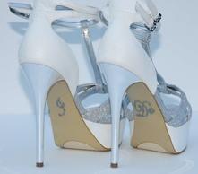 Unik Occasions - Pearl I Do Wedding Shoe Stickers - Dark Grey