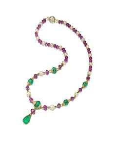 A gem-set and diamond necklace, Van Cleef & Arpels