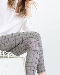 CHECKED JACQUARD LEGGINGS