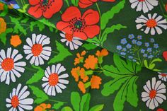 Swedish retro fabric Almedahls design Ulla by Scandinaviavandesign, kr180.00
