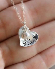 Valentine Necklace Valentine's Day Gift Couple's by LRoseDesigns, $36.50