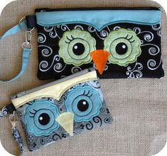 Seriously?!  somebody who knows how to sew has to make these for me!  OWL WRISTLET Machine Embroidery Design
