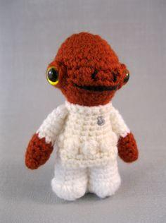 LucyRavenscar - Crochet Creatures: Admiral Ackbar amigurumi