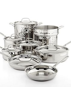 Cuisinart Chef's Classic Stainless Steel 14 Piece Cookware Set   Web ID: 523768