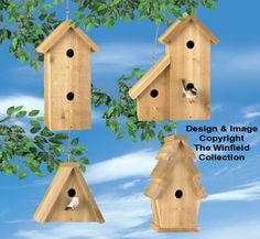 All Bird Project Plans & Patterns - Cedar Birdhouses Wood Project Plan