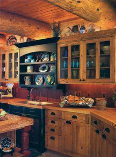 Amazing rustic kitchen.