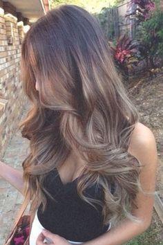 Wavy balayage hair #gorgeoushair