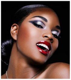 African American Makeup on Black Makeup Looks Optimal Blush Shades For Every Skin Tone Flawless Makeup, Eye Makeup, Makeup Lipstick, Beauty Makeup, Exotic Makeup, Plum Lipstick, Makeup Contouring, Flawless Face, Makeup Goals