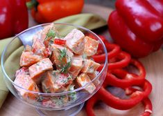 Sweet Potato Red Pepper Salad with Avocado provides the perfect blend of flavors. Toss some together for your next family party, or make a big batch for weekday lunches! Recipe on the RSF site now! Sweet Potato Recipes, Chicken Recipes, Steamed Potatoes, Sweet Bell Peppers, Red Sun, Eat The Rainbow, Sweet Chili, Roasted Red Peppers, Easy Weeknight Meals