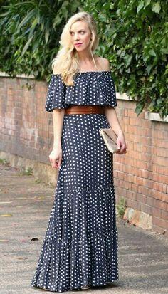57 ideas for dress largos estampados Trendy Dresses, Cute Dresses, Casual Dresses, Fashion Dresses, Summer Dresses, Mode Hippie, Maxi Skirt Outfits, Frock Design, Elegant Outfit